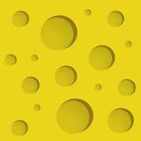 与漏洞的干酪 免版税图库摄影