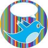 与演讲泡影的鸟 免版税库存图片