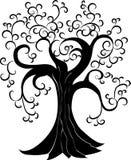 与漩涡的树 库存例证