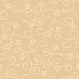 与漩涡纹理的轻的米黄无缝的背景 免版税库存照片