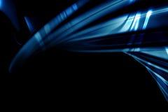 与火光的抽象豪华蓝色背景 免版税库存图片