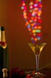 与火光的Christal香宾玻璃 图库摄影