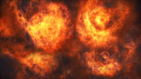 与火和黑烟的户外巨人爆炸 股票录像
