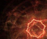 与火圈子或孔纹理的抽象黑背景 库存图片