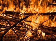 与火焰的火 图库摄影