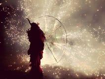 与火的传统仪式在马略卡 库存照片