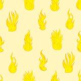 与火的无缝的纹理 免版税库存照片