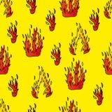 与火的无缝的背景 免版税库存图片