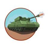 与火箭发射器的装甲的坦克 皇族释放例证