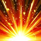 与火花的五颜六色的抽象爆炸背景模板 库存图片