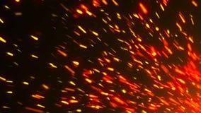 与火花的抽象背景 3d翻译背景 库存照片