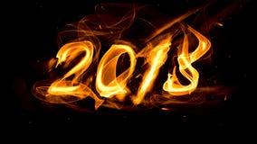 与火花的火热的图2018年 免版税库存照片