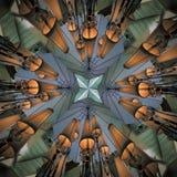 与灯形状的辐形抽象样式 免版税库存图片