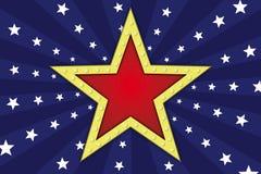 与灯的星 免版税库存图片