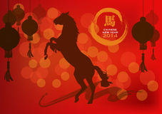与灯笼的马跳舞。 免版税库存照片