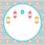 与灯笼的经典伊斯兰教的背景 库存照片