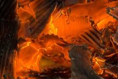 与灰的火炭烬 库存照片