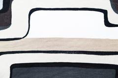 与灰色几何样式的羊毛针织品织品 免版税库存图片