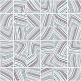 与灰色和樱桃色的镶边瓦片的抽象样式 图库摄影