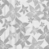 与灰色花纹理的花卉无缝的样式 免版税库存图片