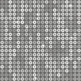 与灰色闪烁的方形的背景,衣服饰物之小金属片 库存例证