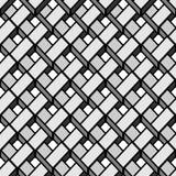 与灰色3D栅格的无缝的几何样式 皇族释放例证