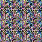 与点和色的区域的五颜六色的样式 库存图片