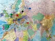 与点的地图 免版税图库摄影
