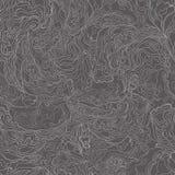与烟图象纹理的样式  在深灰背景的白色边界 向量 免版税库存图片