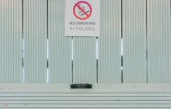 与烟灰缸的禁烟标志 免版税库存照片