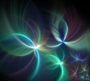 与烟花样式的抽象黑背景 淡色彩虹 免版税图库摄影