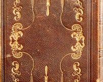 与烫金的皮革赞美诗书细节 库存照片