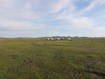 与热尔省的蒙古干草原 库存照片