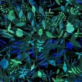 与热带植物的花纹花样 花des的水彩 库存图片