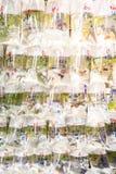 与热带鱼的袋子待售 免版税库存照片