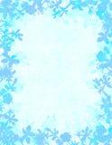 蓝色花卉难看的东西边界 免版税库存照片