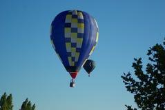 与热空气气球的Travell 免版税库存照片
