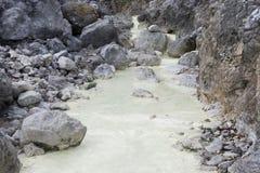 与热水的自然温泉 免版税库存照片