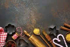 与烹饪支柱的食物背景和不同为baki唱歌 免版税库存照片