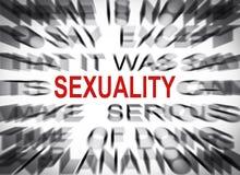 与焦点的Blured文本在性别 库存照片