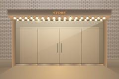 与照明,发光的作用的店面设计 向量例证