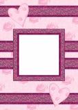 与照片框架的情人节卡片 图库摄影