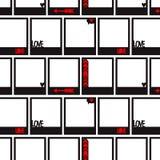 与照片框架的无缝的样式 免版税库存照片