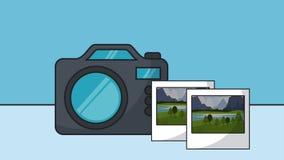 与照片HD动画的快速照相机 向量例证