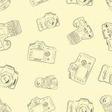 与照相机的无缝的纹理 库存图片