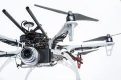 与照相机的Hexacopter寄生虫 库存照片
