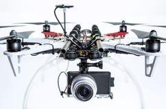 与照相机的Hexacopter寄生虫 库存图片