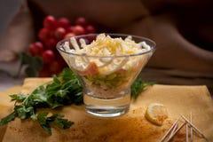 与煮沸的沙拉chiken 图库摄影