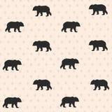 与熊的无缝的样式 免版税库存照片