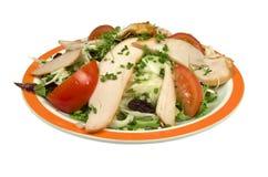 与熏制的鸡的圆白菜沙拉。 图库摄影